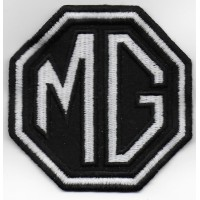 0452 Embroidered patch 8x8 MG MOTOR MORRIS GARAGES