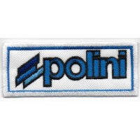 0635 Embroidered patch 10x4 POLINI MOTORI