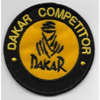 2104 Patch emblema bordado 7x7 DAKAR COMPETITOR