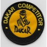 2104 Patch emblema bordado 7x7 DAKAR COMPETITOR