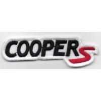 Patch emblema bordado 9X3 MINI COOPER S
