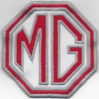 0452 Patch écusson brodé 8x8 MG MOTOR MORRIS GARAGES