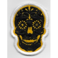 2111 Embroidered patch 7x5 SUGAR SKULL