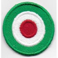 0179 Patch écusson brodé 4x4 drapeau cocarde Italie Vespa
