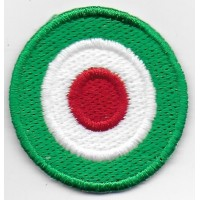 0179 Patch emblema bordado 4x4 bandeira Italia Vespa