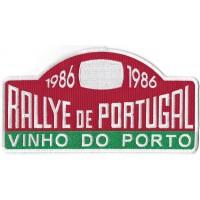 2117  Patch emblema bordado 23x12 RALLYE de PORTUGAL VINHO DO PORTO
