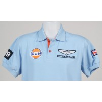 0996 Polo  ASTON MARTIN GULF RACING Nº 009 GB CHAMPION LE MANS SERIES Premium Quality