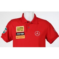 1621 polo shirt MERCEDES AMG 300 SEL 6.8 RED PIG Premium Quality