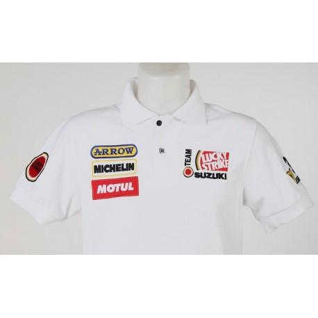 1617 polo shirt KEVIN SCHWANTZ 34 TEAM SUZUKI LUCKY STRIKE Premium Quality