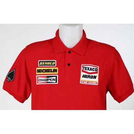 1616 polo shirt BARRY SHEENE 7 TEAM HERON SUZUKI Premium Quality