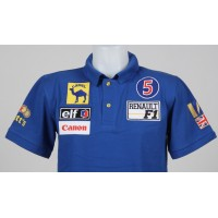 1010 polo NIGEL MANSELL Nº5 WILLIAMS RENAULT F1 92' CHAMPION Premium Quality