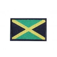 Patch écusson brodé 6x3,7 drapeau JAMAIQUE
