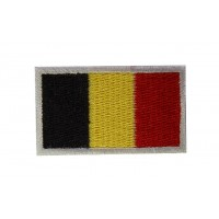 0367 Patch emblema bordado 6X3,7 bandeira BELGICA