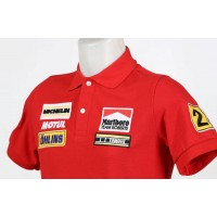 1904 polo YAMAHA MARLBORO TEAM ROBERTS WAYNE RAINEY MOTO GP CHAMPION Premium Quality