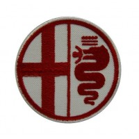 0393 Embroidered patch 7x7 ALFA ROMEO