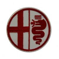 0393 Patch emblema bordado 7x7 ALFA ROMEO