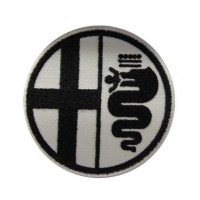 0394 Patch emblema bordado 7x7 ALFA ROMEO
