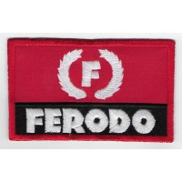 0858 Embroidered patch 10x6 FERODO