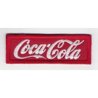 0757 Patch emblema bordado 8X3 COCA-COLA