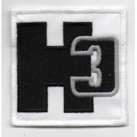 0112 Embroidered patch 7x7 HUMMER H3