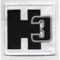0112 Patch emblema bordado 7x7 HUMMER H3