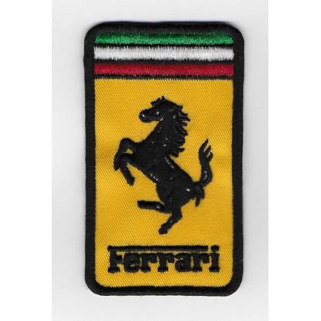 Patch emblema bordado 9x5 FERRARI