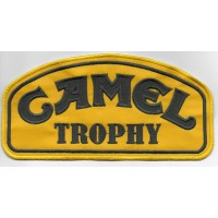 0039 Embroidered patch 20x10 CAMEL TROPHY green