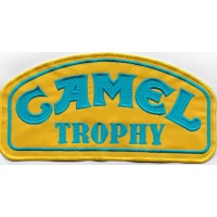 0040 Embroidered patch 20x10 CAMEL TROPHY blue