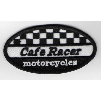 1593 Embroidered patch sew on 9x5 CAFE RACER MOTORCYCLES