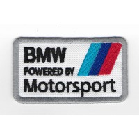 2230 Embroidered patch 8x5 BMW M powered by MOTORSPORT