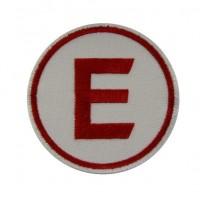 Patch écusson brodé 7x7 E