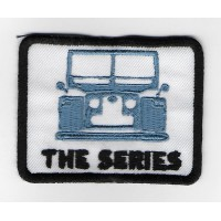 2264 Embroidered patch 8X6 LAND ROVER LAND ROVER the SERIES blue