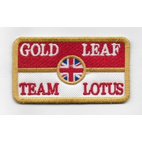 0897 Embroidered patch 8X5 LOTUS GOLD LEAF