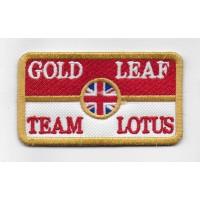 0897 Patch emblema bordado 8X5 LOTUS GOLD LEAF