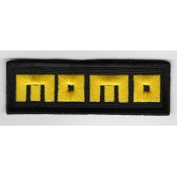 2279 Embroidered sew on patch 9X3 MOMO RACING