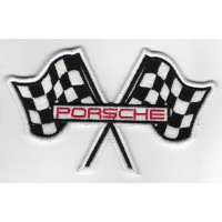 2281 Embroidered patch 12x7 PORSCHE flags