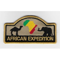 2284 Embroidered patch 10x5 AFRICAN EXPEDITION