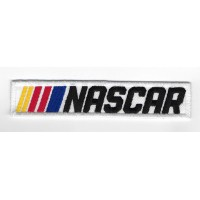 2285 Embroidered sew on patch 11x2 NASCAR white
