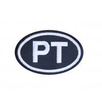 0405 Patch écusson brodé 8X5 PT PORTUGAL