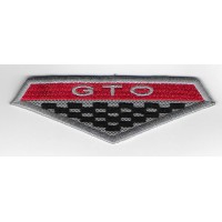 2293 Embroidered sew on patch 10x3 PONTIAC GTO