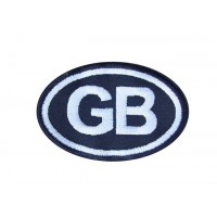 0406 Embroidered patch 8X5 GB GREAT BRITAIN