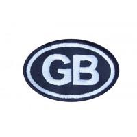 0406 Patch emblema bordado 8X5 GB GRÃ BRETANHA