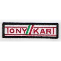 2304 Embroidered patch 11X3 TONY KART KARTING