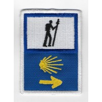 2315 Embroidered patch 8x6 THE WAY OF SAINT JAMES - CAMINO DE SANTIAGO DE COMPOSTELA