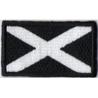 0133 Patch emblema bordado 6X3,7 bandeira ESCÓCIA