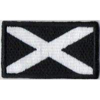 Embroidered patch 6X3,7 flag SCOTLAND