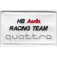 0122 Patch emblema bordado 10X6 AUDI QUATTRO HB RACING TEAM