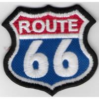 2328 Patch emblema bordado 6X6 ROUTE 66