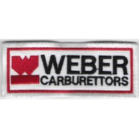 0546 Embroidered patch 10x4 WEBER CARBURATTORS