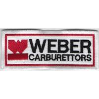 0546 Patch emblema bordado 10x4 WEBER CARBURATTORS
